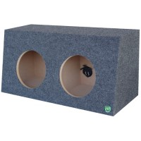 "Pro Slant Narrow - Dual 10"" or 12"" Subwoofer Box"
