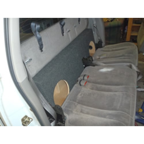 Ddq X on Nissan Frontier Back Seat