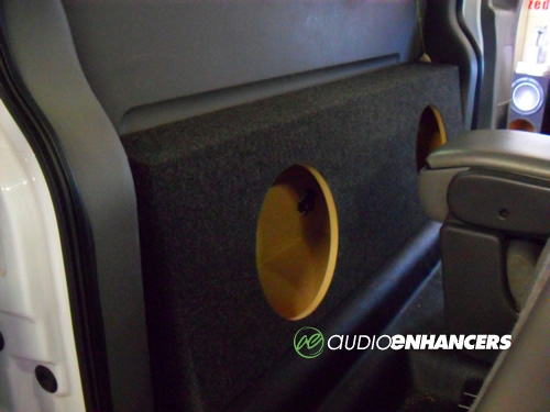 Regular cab truck dual 10 or 12 subwoofer box for 03 chevy silverado door speaker size