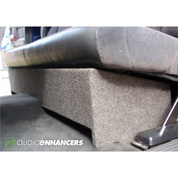 """2007-2018 Ported Chevy/GMC Extended/Double Cab Single10"""" or 12"""" Custom Fit Subwoofer Enclosure"""
