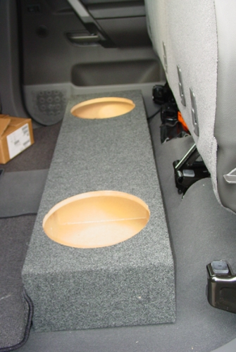 Ntc X on Nissan Frontier Crew Cab Subwoofer Box